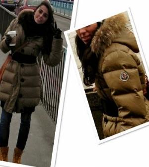 abrigo pluma