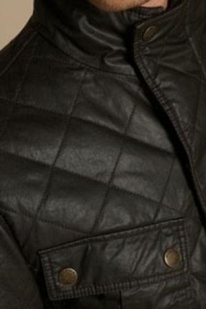 Lavado, y encerado de chaqueta acolchada tipo Barbour, Belstaff, ...